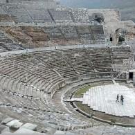 El antiguo teatro de Efesos.