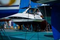 Mientras el verano no llega, varios barcos aprovechan para ver al doctor.