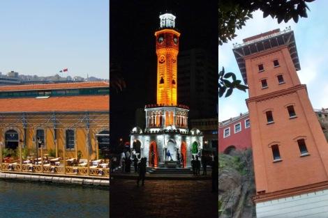 Konak Pier, Saat Kulesi y el Asansör