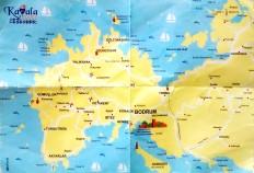 Mapa de la península donde está Bodrum