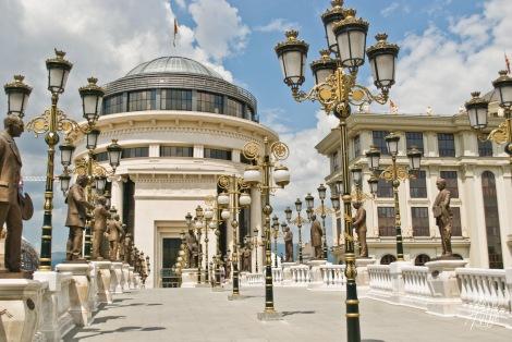 Uno de los tantos edificios construidos por el gobierno en el centro de la ciudad.