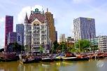 Este edificio, la Casa Blanca de Rotterdam (Wite Huis), fue uno de los pocos que sobrevivió al bombardeo. En 1898, año de su inauguración, fue el rascacielo más alto de Europa. Hoy, pierde por petiso.