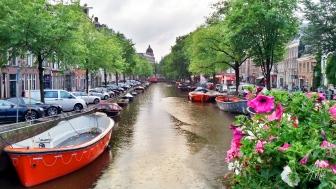 Uno de los paisajes más típicos de la ciudad, son sus canales, que están por todos lados y ordenan el agua para darle lugar a las casa y la urbanización.