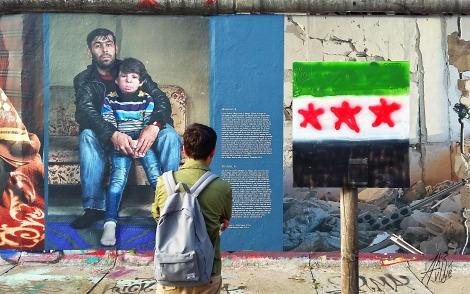 Exposición en el muro de Berlín