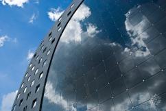 En Rotterdam el cielo se ve en todos lados, porque el cristal de los edificios lo refleja permanentemente.