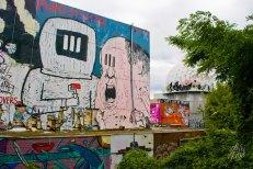 Astronautas grafiteros.