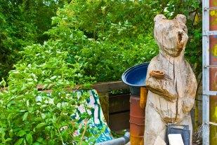 Sos de madera, oso.