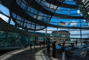 Interior de la cúpula del Bundestag