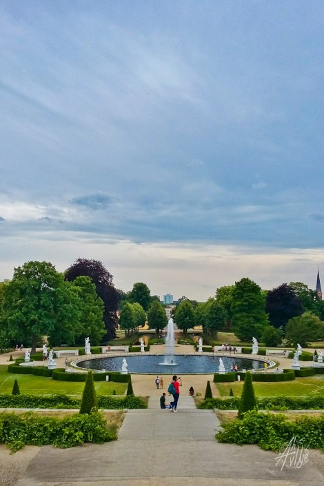 Fuente en el parque Sanssouci.