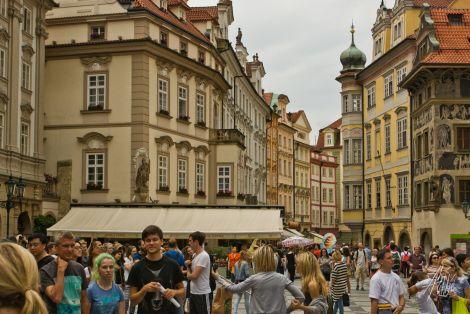 Calle en Praga