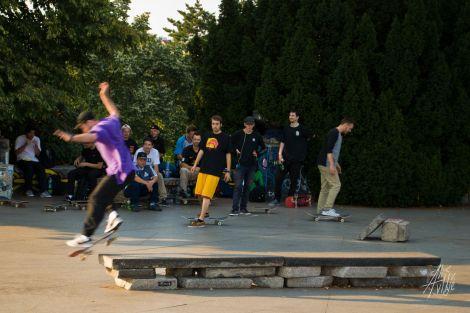 Skatepark en el metrónomo