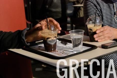 Frappé en Grecia
