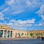 Una de las plazas de La Valletta