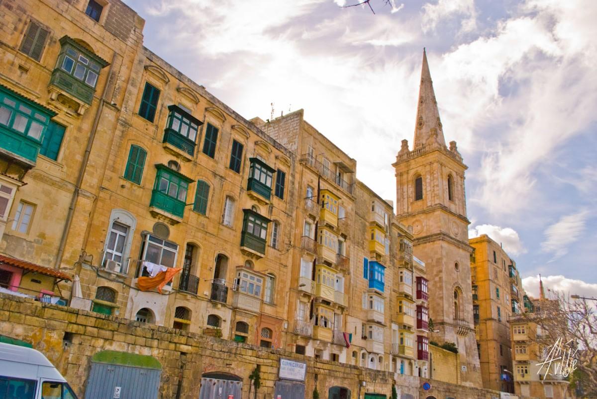 Fachadas de La Valletta