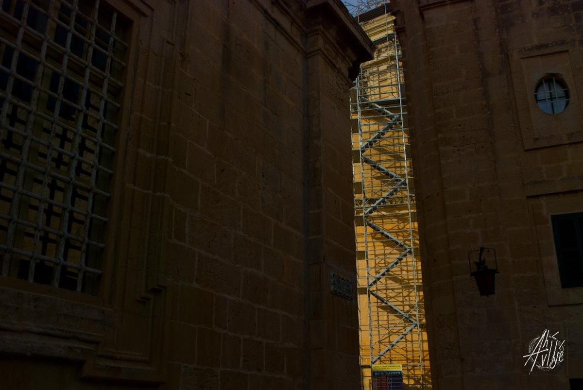 Escalera al techo de la Catedral