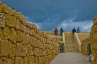Los turistas contemplando la tormenta.