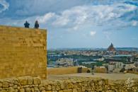 La citadela es uno de los puntos más altos de Gozo, y desde ahí se puede ver prácticamente toda la isla.