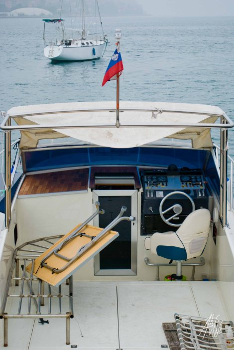 Barco en Koper, Eslovenia