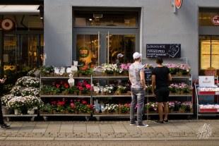 Comprando flores