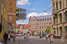 Una calle de Erfurt
