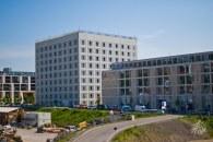 La biblioteca de Stuttgart, el cubito en la foto, es un edificio bastante interesante.