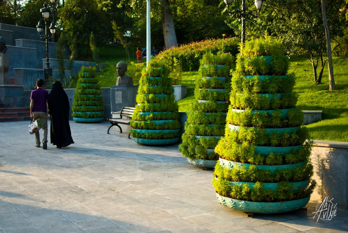 Jardinería en Tehrán
