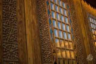 La decoración con formas geométricas está por todos lados.