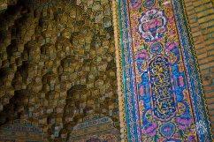 Fuera de la Mezquita Rosa tambien se encuentran decoraciones interesanets.