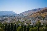 Vista de Shiraz desde la entrada a la ciudad.