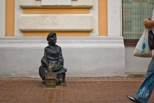Otra de las estatuas de la ciudad.